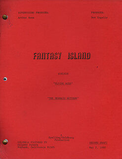 FANTASY ISLAND TV CAST - SCRIPT UNSIGNED