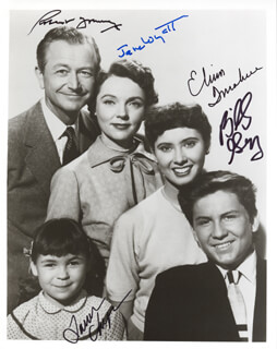 FATHER KNOWS BEST TV CAST - AUTOGRAPHED SIGNED PHOTOGRAPH CO-SIGNED BY: LAUREN CHAPIN, ELINOR DONAHUE, BILLY GRAY, ROBERT YOUNG, JANE WYATT