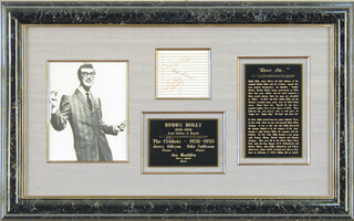 BUDDY HOLLY - AUTOGRAPH CO-SIGNED BY: NIKI SULLIVAN, JERRY ALLISON