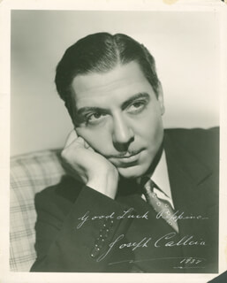 JOSEPH CALLEIA - AUTOGRAPHED INSCRIBED PHOTOGRAPH 1937