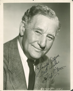 FRED A. STONE - AUTOGRAPHED INSCRIBED PHOTOGRAPH