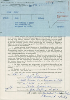 RODD REDWING - DOCUMENT SIGNED 05/14/1958