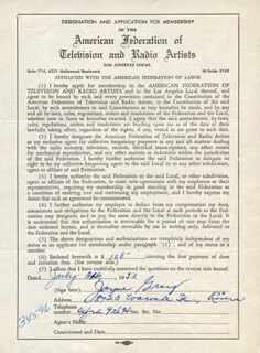 JAYNE GRAY - DOCUMENT SIGNED 07/31/1953