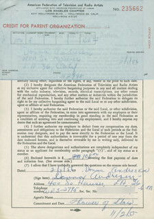 DONNA ANDRESEN - DOCUMENT SIGNED 02/01/1956