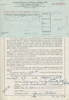HANNES LUTZ - DOCUMENT SIGNED 09/09/1954