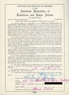 Autographs: STANLEY B. GIL GILSON JR. - DOCUMENT SIGNED