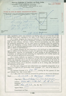 BUDDY C. MASON - DOCUMENT SIGNED 05/07/1954