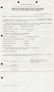 LESLIE SUMMERS - CONTRACT SIGNED 07/10/1964