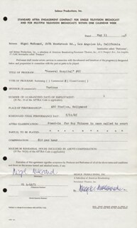 NIGEL McKEAND - CONTRACT SIGNED 05/11/1965