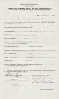 BRUCE POWERS - CONTRACT SIGNED 06/10/1969