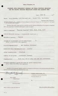 DOUGLAS KENNEDY - CONTRACT SIGNED 06/14/1965