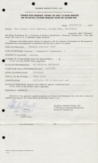 MIKE STEELE - CONTRACT SIGNED 10/21/1964
