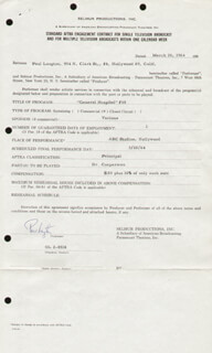 PAUL LANGTON - CONTRACT SIGNED 03/20/1964