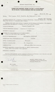 PAUL LANGTON - CONTRACT SIGNED 03/23/1964