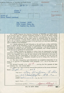 JOY WINDSOR - DOCUMENT SIGNED 09/15/1958