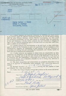 WAYNE TAYLOR - DOCUMENT SIGNED 05/15/1958