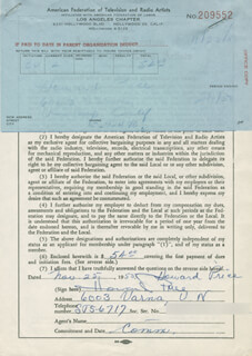 HOWARD PRICE - DOCUMENT SIGNED 11/25/1955
