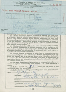 ALAN MARSHAL - DOCUMENT SIGNED 01/12/1956