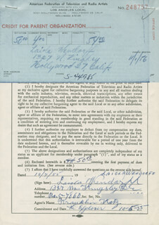 LAIOLA WENDORFF - DOCUMENT SIGNED 10/07/1955