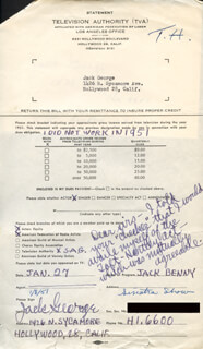 JACK GEORGE - ANNOTATED DOCUMENT SIGNED 01/27