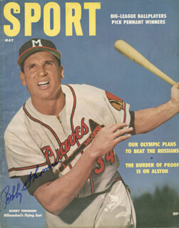 BOBBY THOMSON - MAGAZINE SIGNED