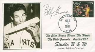 BOBBY THOMSON - COMMEMORATIVE ENVELOPE SIGNED