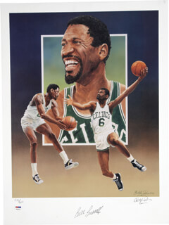 BILL RUSSELL - LITHOGRAPH SIGNED CO-SIGNED BY: CHRISTOPHER PALUSO