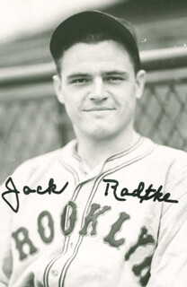 fc06f8a7d85 Autographs  JACK RADTKE - PICTURE POST CARD SIGNED
