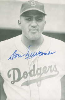 Autographs: DON NEWK NEWCOMBE - PICTURE POST CARD SIGNED