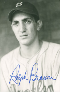 RALPH HAWK BRANCA - PICTURE POST CARD SIGNED