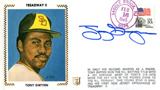 TONY GWYNN - FIRST DAY COVER SIGNED