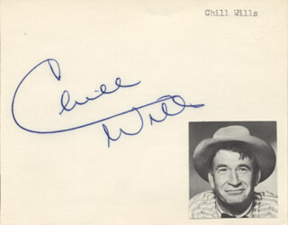 CHILL WILLS - AUTOGRAPH