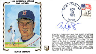 ROGER CLEMENS - FIRST DAY COVER SIGNED