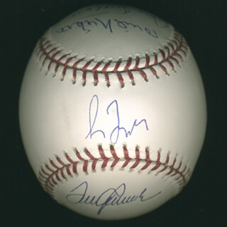 Autographs: 300+ CAREER WINS - BASEBALL SIGNED CO-SIGNED BY: DON SUTTON, GREG MADDUX, STEVE CARLTON, PHIL KNUCKSIE NIEKRO, TOM TOM TERRIFIC SEAVER