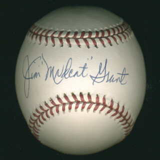 JIM MUDCAT GRANT - AUTOGRAPHED SIGNED BASEBALL