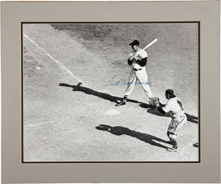 TED WILLIAMS - AUTOGRAPHED SIGNED PHOTOGRAPH CO-SIGNED BY: YOGI BERRA