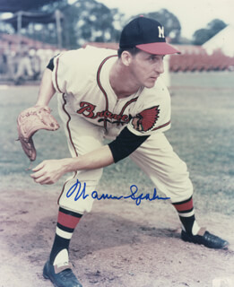 WARREN SPAHN - AUTOGRAPHED SIGNED PHOTOGRAPH