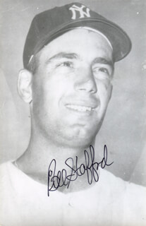 BILL STAFFORD - AUTOGRAPHED SIGNED PHOTOGRAPH