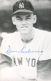 NORM SIEBERN - AUTOGRAPHED SIGNED PHOTOGRAPH