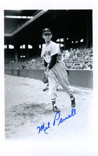 MEL PARNELL - AUTOGRAPHED SIGNED PHOTOGRAPH