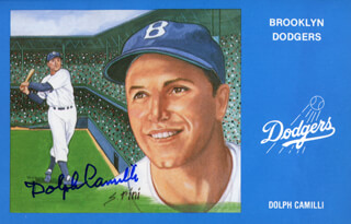 DOLPH CAMILLI - PICTURE POST CARD SIGNED