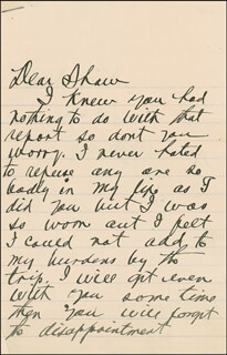 WILLIAM A. BILLY SUNDAY - AUTOGRAPH LETTER SIGNED