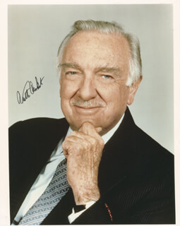 WALTER CRONKITE - AUTOGRAPHED SIGNED PHOTOGRAPH