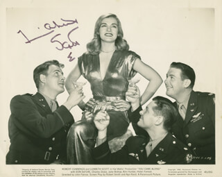 LIZABETH SCOTT - PRINTED PHOTOGRAPH SIGNED IN INK