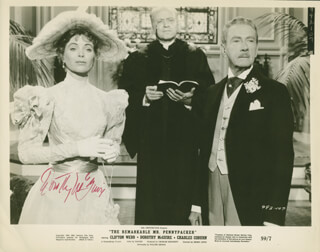 DOROTHY McGUIRE - AUTOGRAPHED SIGNED PHOTOGRAPH