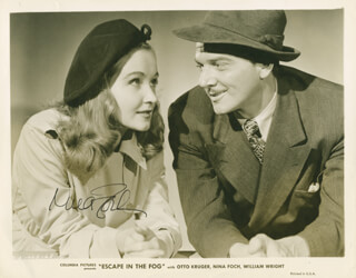 NINA FOCH - AUTOGRAPHED SIGNED PHOTOGRAPH