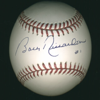 Autographs: BOBBY RICHARDSON - BASEBALL SIGNED