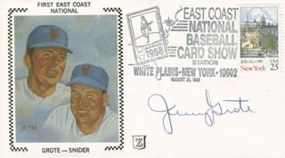 JERRY GROTE - COMMEMORATIVE COVER SIGNED