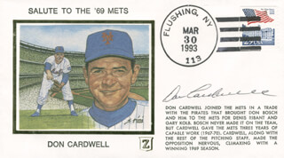 DONALD CARDWELL - FIRST DAY COVER SIGNED