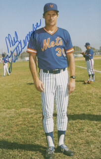 MEL STOTTLEMYRE - PICTURE POST CARD SIGNED